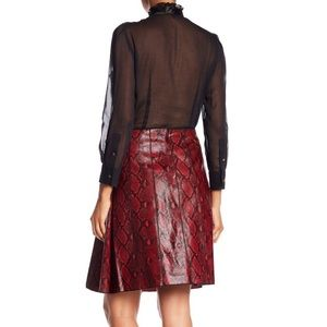Marc Jacobs Skirts - Marc Jacobs Python Embossed Leather A-Line Skirt